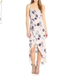 ASTR the Label Penelope Maxi Grey Floral Dress